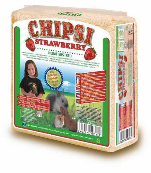 Опилки JRS CHIPSI Strawberry (1кг)