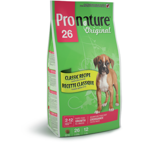 Сухой корм Pronature Original 26 Growth Large Breed (ягненок рис)